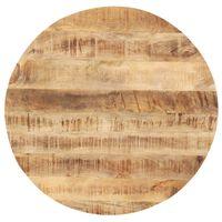 vidaXL Table Top Solid Mango Wood Round 25-27 mm 40 cm
