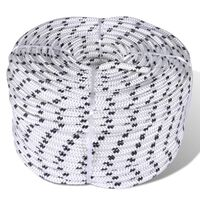 vidaXL Braided Boat Rope Polyester 10 mm 250 m White