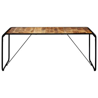vidaXL Dining Table 180x90x76 cm Solid Rough Mango Wood