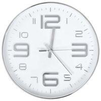 vidaXL Wall Clock 30 cm Silver