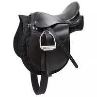 Kerbl Saddle Leather Black 32197