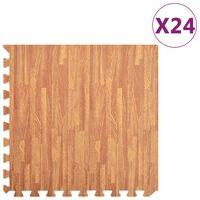 vidaXL Floor Mats 24 pcs Wood Grain 8.64 ㎡ EVA Foam