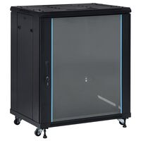 vidaXL 18U Network Cabinet with Swivel Feet 19 IP20 800x600x1000 mm