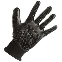 Kerbl Cleaning and Massage Gloves S Black