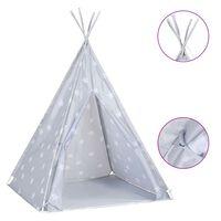 vidaXL Children Teepee Tent with Bag Polyester Grey 115x115x160 cm