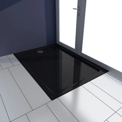 Rectangular ABS Shower Base Tray Black 70 x 100 cm