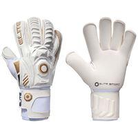 Elite Sport Goalkeeper Gloves Real Size 10 White