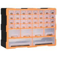 vidaXL Multi-drawer Organiser with 40 Drawers 52x16x37.5 cm