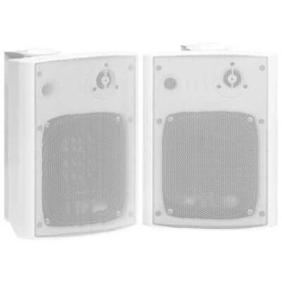 vidaXL Wall-mounted Stereo Speakers 2 pcs White Indoor Outdoor 120 W