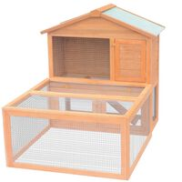 vidaXL Animal Rabbit Cage Outdoor Run Wood