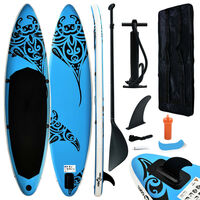 vidaXL Inflatable Stand Up Paddleboard Set 366x76x15 cm Blue