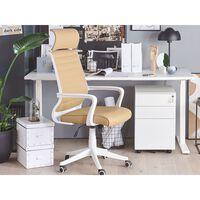 3 Drawer Metal Filing Cabinet White POMA