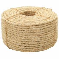 vidaXL Rope 100% Sisal 10 mm 100 m