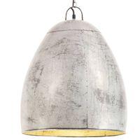 vidaXL Industrial Hanging Lamp 25 W Silver Round 42 cm E27