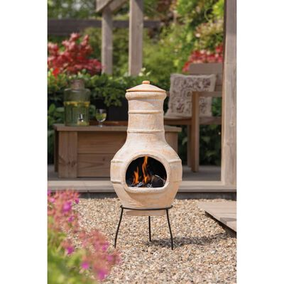 RedFire Fireplace Star Flower Clay Straw Colour 86037