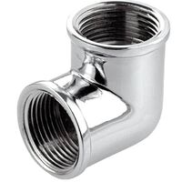 1/2 Inch Pipe Elbow Coupling Connection Female Chrome
