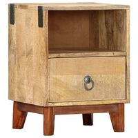 vidaXL Bedside Cabinet 40x30x52 cm Solid Rough Mango Wood