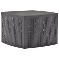 vidaXL Side Table Mocha 54x54x36.5 cm Plastic