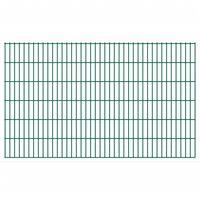 vidaXL 2D Garden Fence Panels 2.008x1.23 m 26 m (Total Length) Green