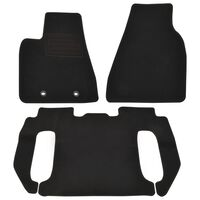 vidaXL 3 Piece Car Mat Set for Tesla Model X