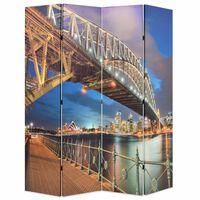 vidaXL Folding Room Divider 160x170 cm Sydney Harbour Bridge