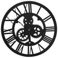 vidaXL Wall Clock Black 30 cm Acrylic