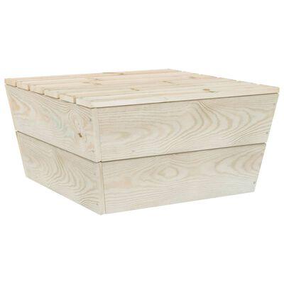 vidaXL Garden Table 60x60x30 cm Impregnated Spruce Wood