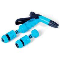 3/4 Inch Garden Water Gun Plastic Spray 4 Piece Connector Nozzle Set
