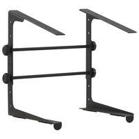 vidaXL Laptop Stand Black 30.5x28x(24.5-37.5) cm Steel