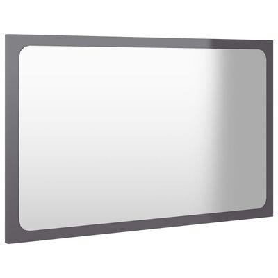 vidaXL 2 Piece Bathroom Furniture Set High Gloss Grey Chipboard