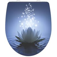 SCHÜTTE Duroplast High Gloss Toilet Seat with Soft-Close WATER LILY