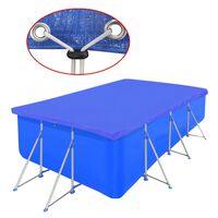 vidaXL Pool Cover PE Rectangular 90 g/sqm 540 x 270 cm