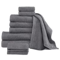 vidaXL 12 Piece Towel Set Cotton 450 gsm Anthracite