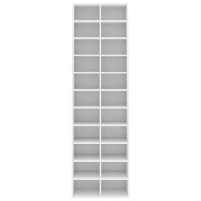 vidaXL Shoe Cabinet White 54x34x183 cm Chipboard