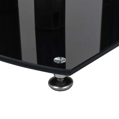 vidaXL Aluminum Speaker Stands 2 pcs Black Safety Glass