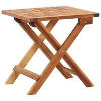 vidaXL Folding Garden Coffee Table 40x40x40 cm Solid Acacia Wood