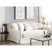 3 Seater Sofa Slipcover White GILJA