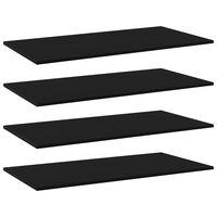 vidaXL Bookshelf Boards 4 pcs Black 100x50x1.5 cm Chipboard