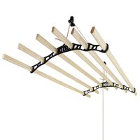 Clothes Airer Ceiling Pulley Maid Traditional Dryer 6 Lath 1.4m Black