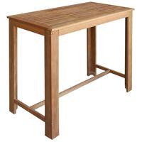 vidaXL Bar Table Solid Acacia Wood 120x60x105 cm