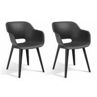 Allibert Outdoor Chairs Akola 2 pcs Graphite