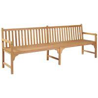 vidaXL Garden Bench 240 cm Solid Teak