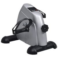 Silver Mini Exercise Bike with Plastic Flywheel