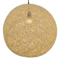 vidaXL Hanging Lamp Cream Sphere 55 cm E27