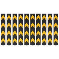 vidaXL Reflective Corner Guards 10 pcs Rubber 80 cm