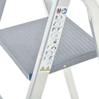 vidaXL Aluminium Step Ladder 4 Steps 150 kg