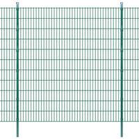 vidaXL 2D Garden Fence Panels & Posts 2008x2230 mm 46 m Green