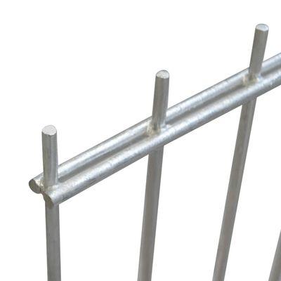 vidaXL 2D Garden Fence Panels & Posts 2008x1030 mm 10 m Silver