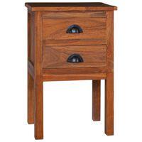 vidaXL Bedside Cabinet 40x35x60 cm Solid Teak Wood