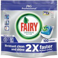 Fairy Professional Original All in One Dishwasher Capsules - 1x100caps